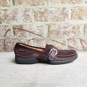 Sperry Brown Suede Buckle Loafers